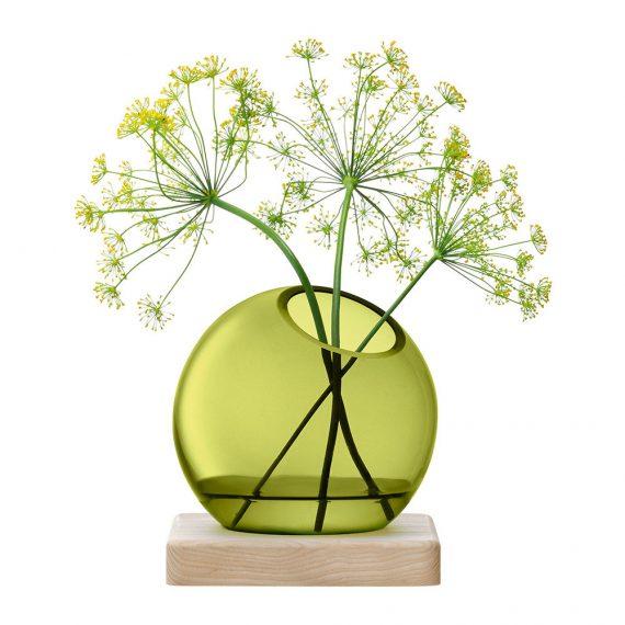 Vase Axis LSA frêne et verre